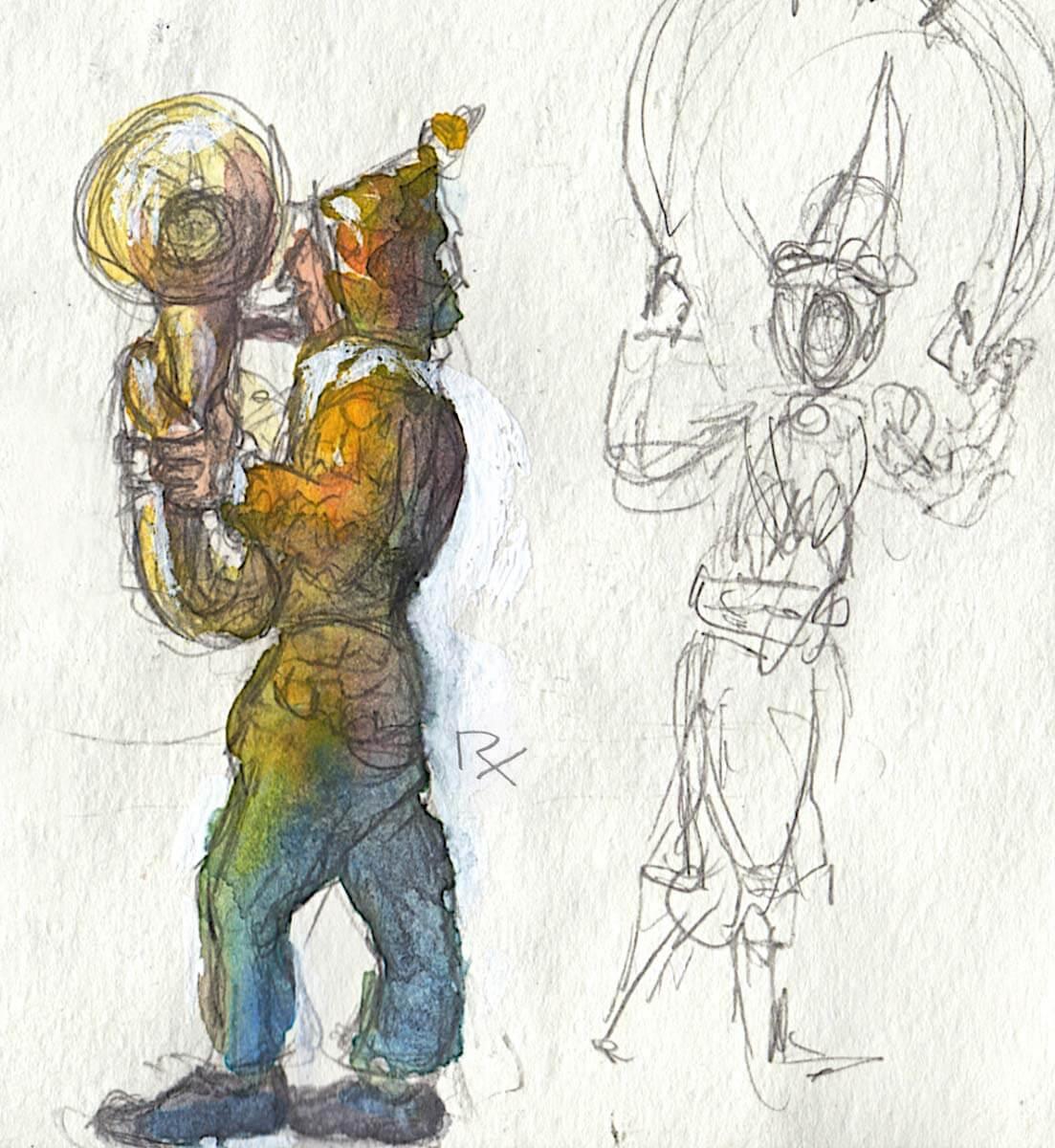 Maschkera-Musiker