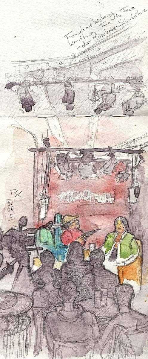 Interview (Zeichnung: Patricia Rex)