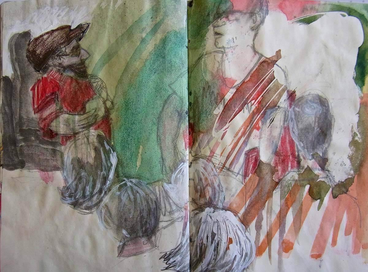 Interview (Zeichnung: Claudia Hiepel)